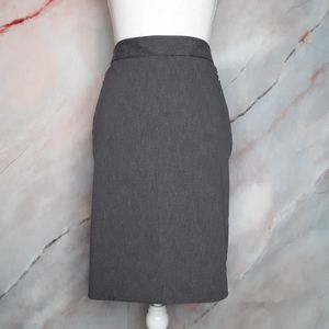 THE LIMITED Grey Exact Stretch Pencil Skirt Size 8